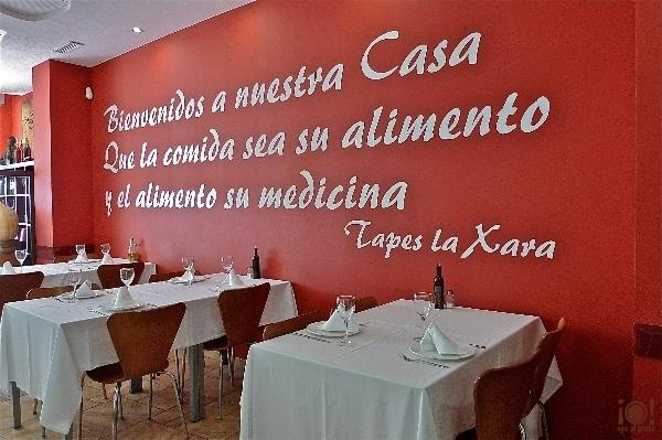 Restaurante tapes i vins la xara d nia alicante ojo - Como decorar un bar pequeno ...